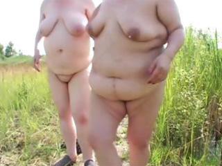 two plump mature lesbian babes