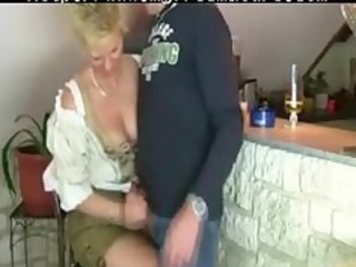 granny woman acquires drilled by three-some