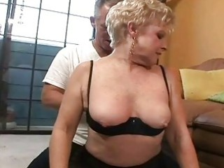 worthy horny granny receives old pounder in her