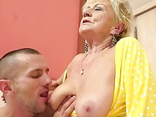 busty granny gets her hairy love tunnel fucked