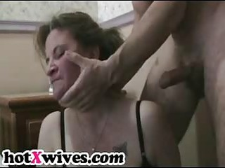 lewd ex wife receives coarse throat fuck