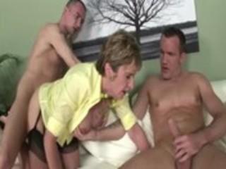 aged stocking brit sonia threesome fuck and spunk