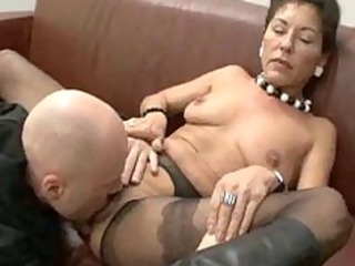 hairy older boss with salaried workers
