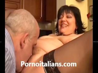 vecchia coppia italiana porca fa sesso - old