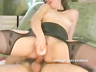geek anal couples sex with double toy insertion
