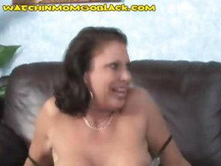 mommy trades oral sex with darksome man