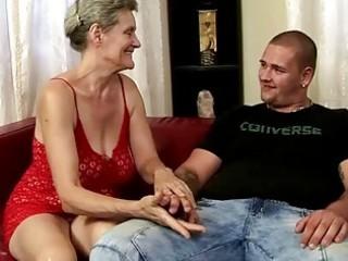 breasty grandma riding juvenile cock