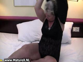 fat mature housewife is sexually excited and