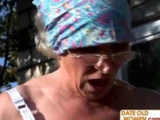 ugly curly granny fucks