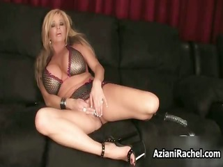 busty blond wench goes crazy dildo part3