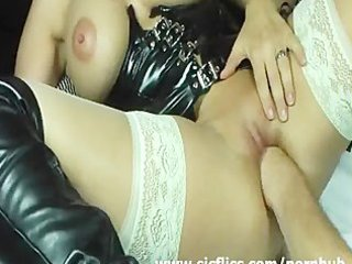 blonde wife violently fisted in her loose muff