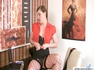 mother i hawt striptease & dildo insertion