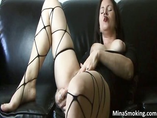 aroused ribald brunette chick bangs part11
